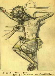 Sant Crist 1933 dalt cor ret